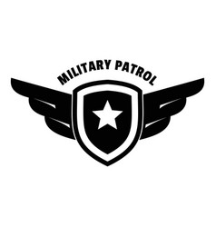 Military army patrol logo simple style vector