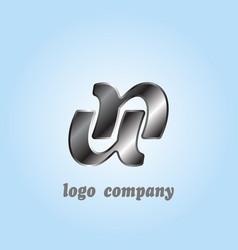 minimalist design logo letter u logo vector image