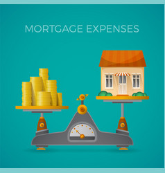 Mortgage expenses concept in flat style vector