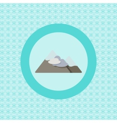 Mountains vacation flat icon vector image