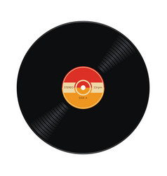 music retro vinyl record flat icon vector image