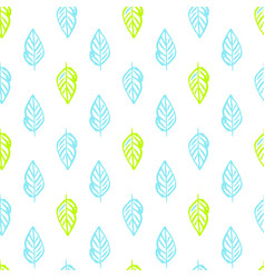 nature plants brush seamless pattern vector image