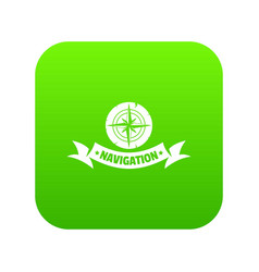 navigation icon green vector image