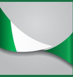 Nigerian wavy flag vector