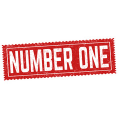 number one grunge rubber stamp vector image