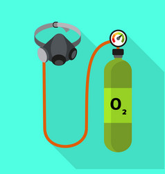 Oxygen cylinder icon flat style vector