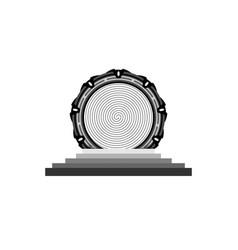 Portal gate logo concept alien construction icon vector