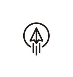 raised paper plane startup aircraft logo vector image