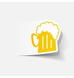 realistic design element beer vector image