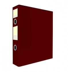 red folder vector image