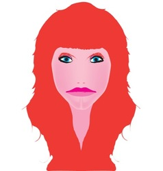 Red Head vector image