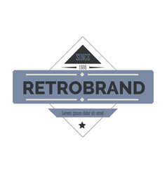 retro logo or label isolated icon vintage vector image
