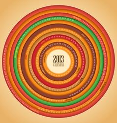 Retro swirl 2013 calendar vector