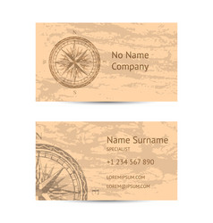 sailing tour business card layout vector image