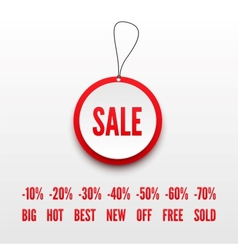 Sale tag 3D vector