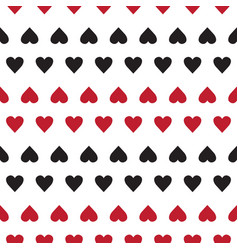 seamless pattern with small hearts on white vector image