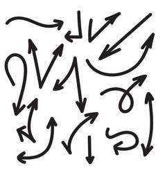 set arrows vector image
