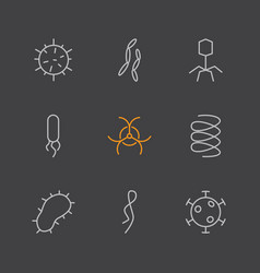 Set of virus and bacteria icons vector