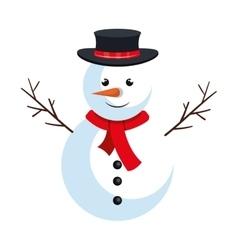 snowman christmas symbol vector image