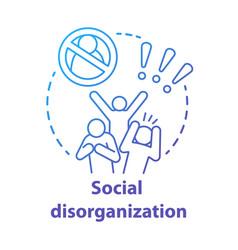 Social disorganization concept icon behavioral vector