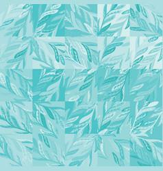 Soft subtle teal flourish leaf tone on tone motif vector