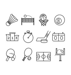 sport activities symbols vector image