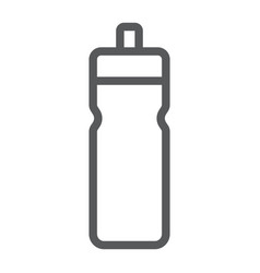 sport bottle line icon drink and container water vector image