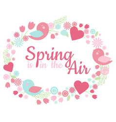 spring is in the air-card vector image