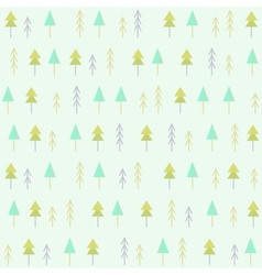 Spruces seamless pattern vector
