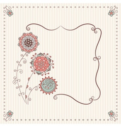 Stock handmade frame in a classic style vector
