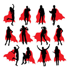 Super secretary silhouettes vector