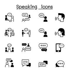 Talk speech discussion dialog speaking chat vector