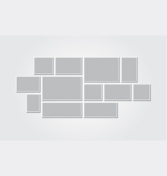 Templates collage frames for photo or vector