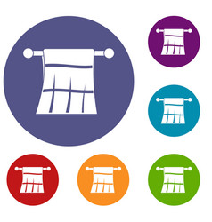 towel on a hanger icons set vector image