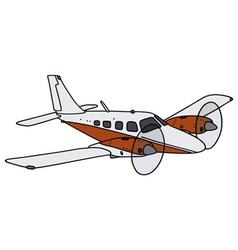 Twin engine airplane vector