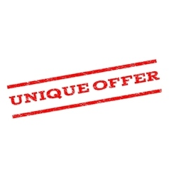 Unique Offer Watermark Stamp vector