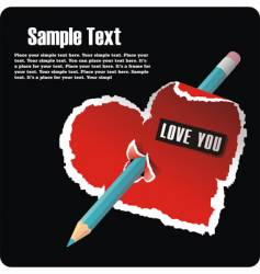 Valentines postcard vector