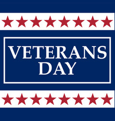 veterans day in the united states of america vector image