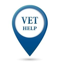 veterinarian help icon vector image