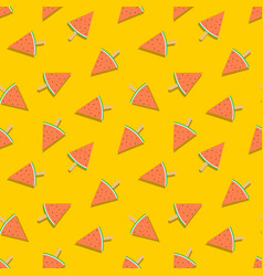 watermelon ice cream summer seamless pattern vector image