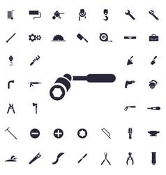 Wheel wrench icon vector