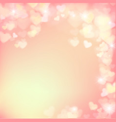 005 blur heart on light pink abstract background vector image