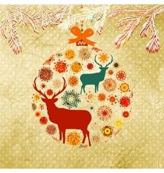 Christmas ornamental bauble card vector image