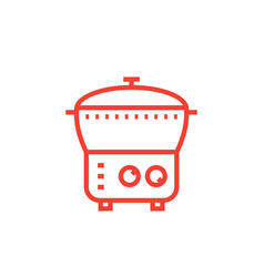 electric cooker icon steamer multi cooker vector image