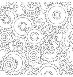 gear wheel pattern vector image vector image