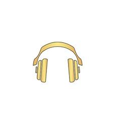 Headphones computer symbol vector image vector image