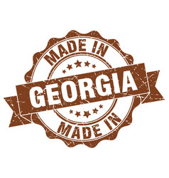 made in georgia round seal vector image