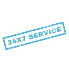 24X7 Service Rubber Stamp vector image vector image