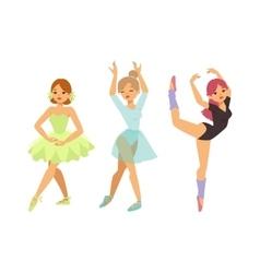 Ballerina dancer girl vector image