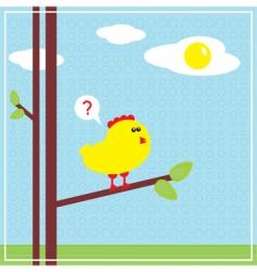 chicken sun vector image